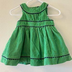 Baby Gap Emerald Green Corduroy Dress 0-3 mo.